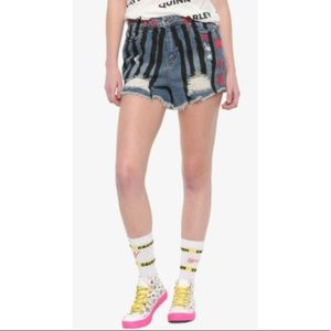 DC COMICS BIRDS OF PREY HARLEY QUINN SHORTS NWTS